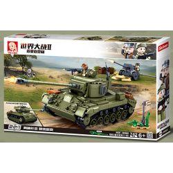 SLUBAN M38-B0860 B0860 0860 M38B0860 38-B0860 Xếp hình kiểu Lego MILITARY ARMY World War II Normandy Landing US M26E1 Pan Xingtan (two) Xe Tăng M26E1 Pershing Của Quân đội Hoa Kỳ (thay đổi Thứ Hai) 74