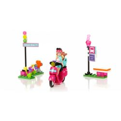MEGA BLOKS 80213 Xếp hình kiểu Lego FRIENDS Scooter Small Wheel Motorcycle Xe Tay Ga 65 khối