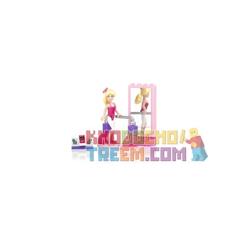MEGA BLOKS 80235 Xếp hình kiểu Lego FRIENDS Dance Fun Barbie® Happy Dance Barby Búp Bê Barbie Vui Vẻ 25 khối