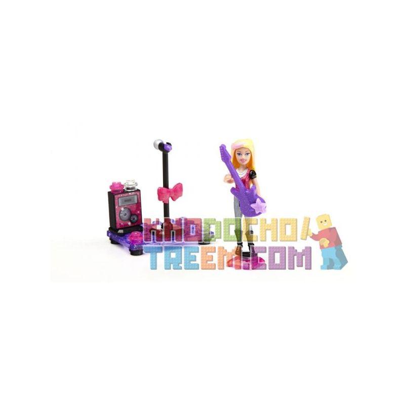 MEGA BLOKS 80238 Xếp hình kiểu Lego FRIENDS Pop Star Barbie® Popular Singer Barbie Ca Sĩ Nhạc Pop Barbie 23 khối