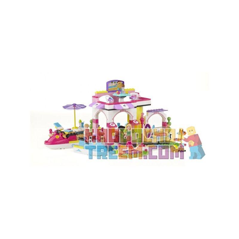 MEGA BLOKS 80252 Xếp hình kiểu Lego FRIENDS Fab Marina Wonderful Pier Bến Tàu Tuyệt Vời 254 khối