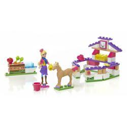 MEGA BLOKS 80280 Xếp hình kiểu Lego FRIENDS Pony Care Patient Chăm Sóc Ngựa 94 khối
