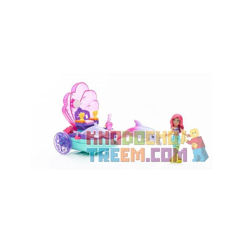 MEGA BLOKS DPK98 Xếp hình kiểu Lego FRIENDS Mermaid Carriage Mermaid Horse Cỗ Xe Tiên Cá 40 khối