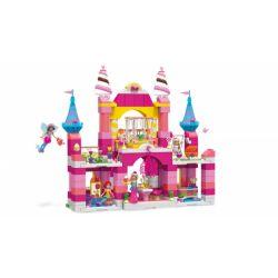 MEGA BLOKS FGC51 Xếp hình kiểu Lego FRIENDS 2-IN-1 Candy Castle 2 In 1 Candy Castle Lâu đài Kẹo 2 Trong 1 526 khối