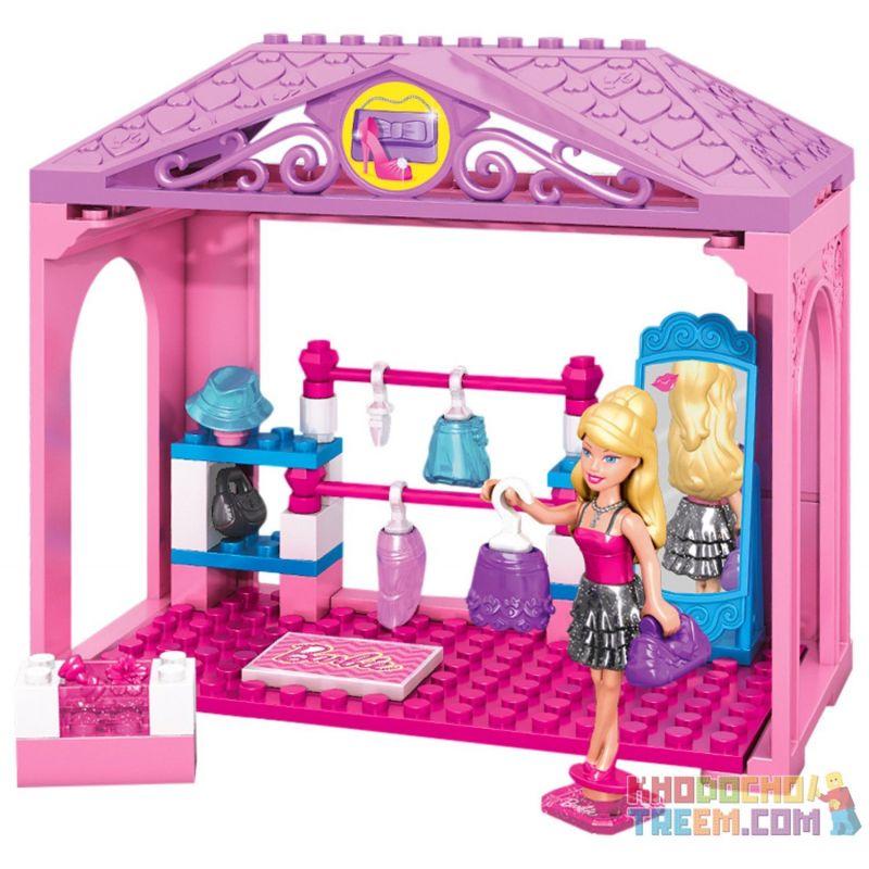 MEGA BLOKS 80198 CND45 Xếp hình kiểu Lego FRIENDS Walk-in Closet Steps Áo Choàng Chui đầu 46 khối
