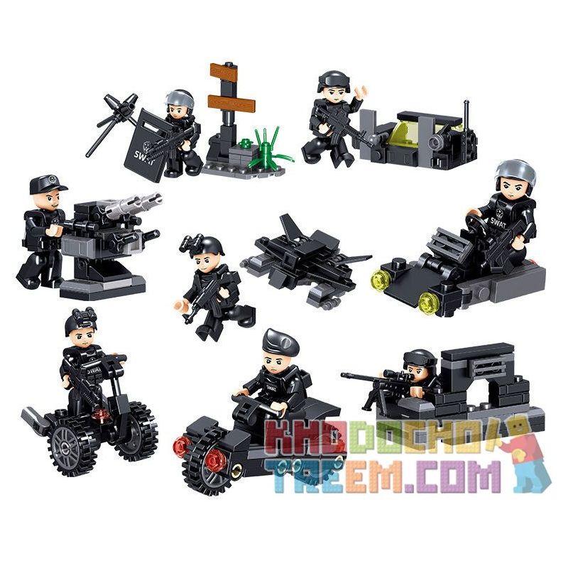 ZHEGAO QL0250 0250 Xếp hình kiểu Lego CITY SWAT-ELITE Special Police Assault Car 8 Combination Xe Tấn Công Cảnh Sát đặc Nhiệm 8 Tổ Hợp