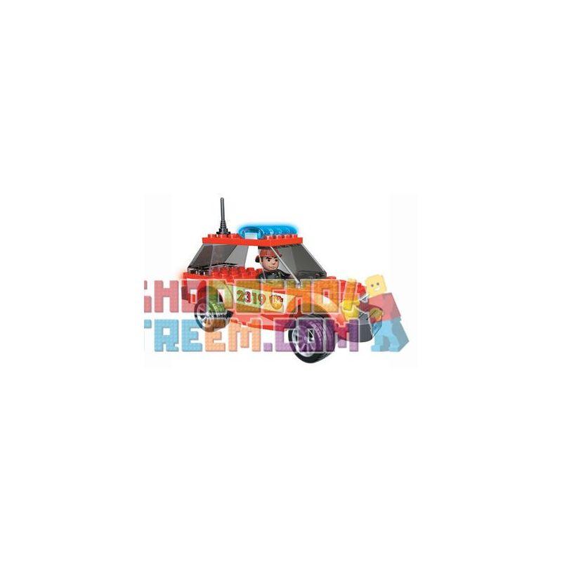 MEGA BLOKS 2411 2432 Xếp hình kiểu Lego CITY Fire Patrol SUV SUV Tuần Tra Cứu Hỏa 75 khối