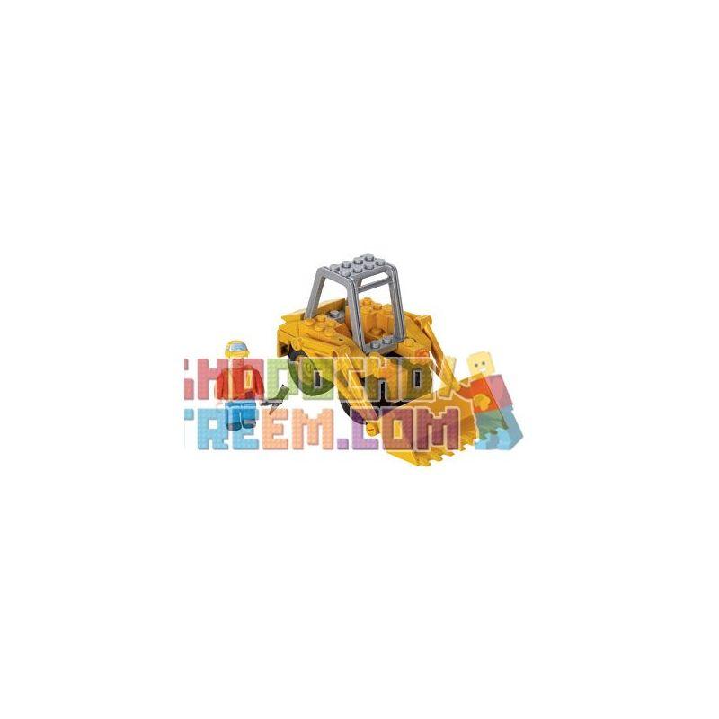 MEGA BLOKS 2412 Xếp hình kiểu Lego CITY Construction Loader Engineering Loader Máy Tải Kỹ Thuật 90 khối