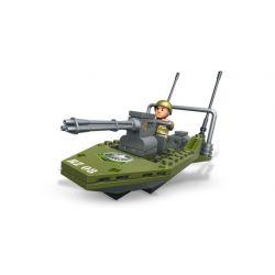 MEGA BLOKS 2410 Xếp hình kiểu Lego MILITARY ARMY Stealth Speed Boat Invisible Speedboat Tàu Cao Tốc Tàng Hình 61 khối