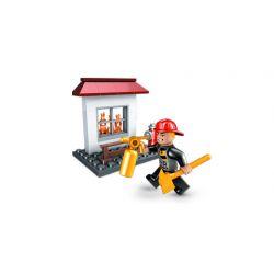MEGA BLOKS 2497 Xếp hình kiểu Lego CITY Fire Rescue Hero Pack Fire Rescue Hero Bag Gói Anh Hùng Cứu Hỏa 40 khối