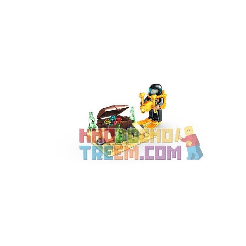 MEGA BLOKS 2499 Xếp hình kiểu Lego CITY Treasure Quest Hero Pack Treasure Hunt Gói Anh Hùng Săn Kho Báu 39 khối