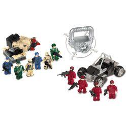 MEGA BLOKS 5518 Xếp hình kiểu Lego Troop Builder Soldier Builder Người Lính Xây Dựng 130 khối