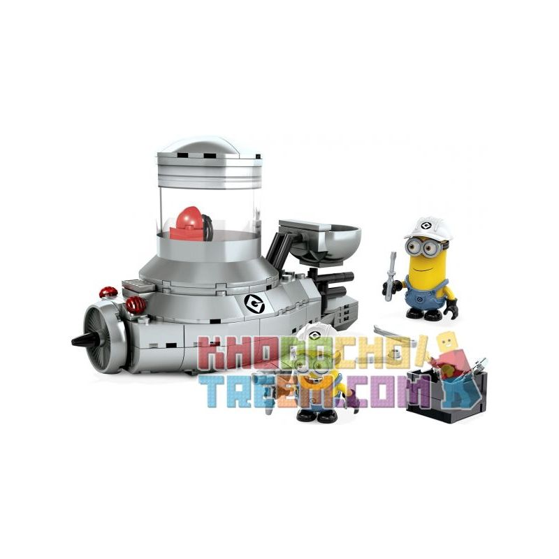 MEGA BLOKS 94813 Xếp hình kiểu Lego Minion Mobile Small Yellow Car Xe Minions