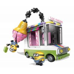 MEGA BLOKS DPG73 Xếp hình kiểu Lego Ice Scream Truck Ice Cream Truck Xe Bán Kem