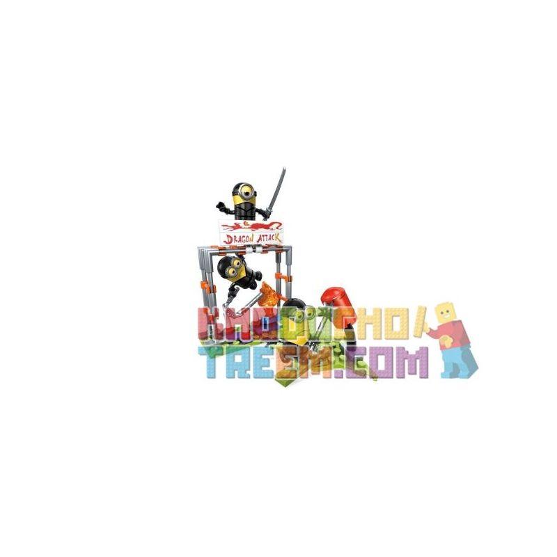 MEGA BLOKS FND05 Xếp hình kiểu Lego Minions Ninja Practice Small Yellow Ninja Exercises Thực Hành Ninja Minions 82 khối