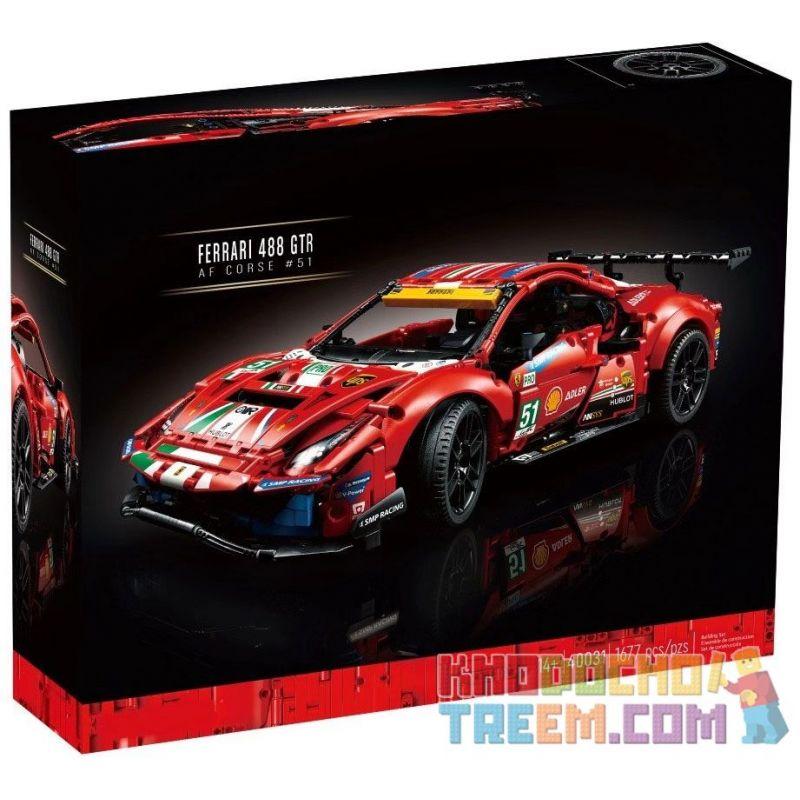 NOT Lego TECHNIC 42125 Ferrari 488 GTE 'AF Corse #51' , BLANK 10287 40031 488 Xếp hình Ferrari 488 GTE 'AF Corse # 51' 1677 khối