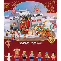TAURUS 66005 Xếp hình kiểu Lego SEASONAL Story Of Nian Year Story Câu Chuyện Của Nian 1067 khối