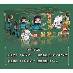 SX 9022-1 9022-2 9022-3 9022-4 Xếp hình kiểu Lego BRICKHEADZ National Tide Ginger Teeth 4 Ginger Teeth, Four Unlike, Shen Gao Leopard, Xiaoxiao 4 Kiểu Jiang Ziya, Sibuxiang, Shen Gongbao, Xiaojiu gồm