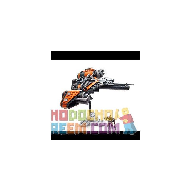 MEGA BLOKS DPJ12 Xếp hình kiểu THE LEGO NINJAGO MOVIE Fate Arcadia Jumpship Arcadia Jumpship. 501 khối