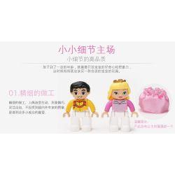 NOT LEGO Duplo 6153 Cinderella's Carriage, Hystoys HongYuanSheng Aoleduotoys HG-1270 Xếp hình hoàng tử đón công chúa 25 khối
