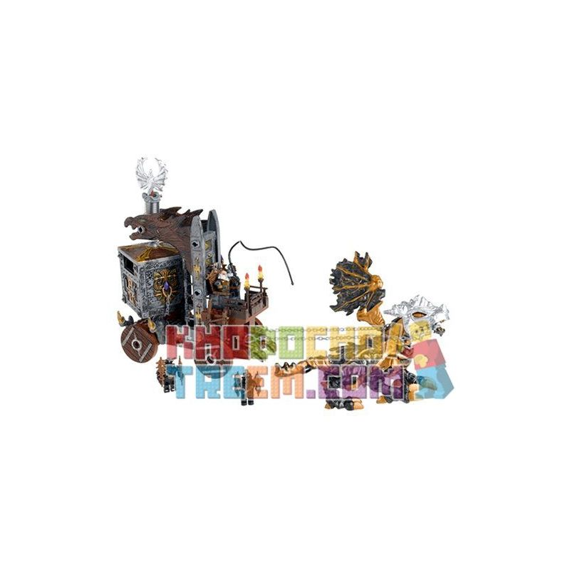 MEGA BLOKS 9806 Xếp hình kiểu Lego Wizard's Strong Box Wizard's Safe Wizard An Toàn 80 khối