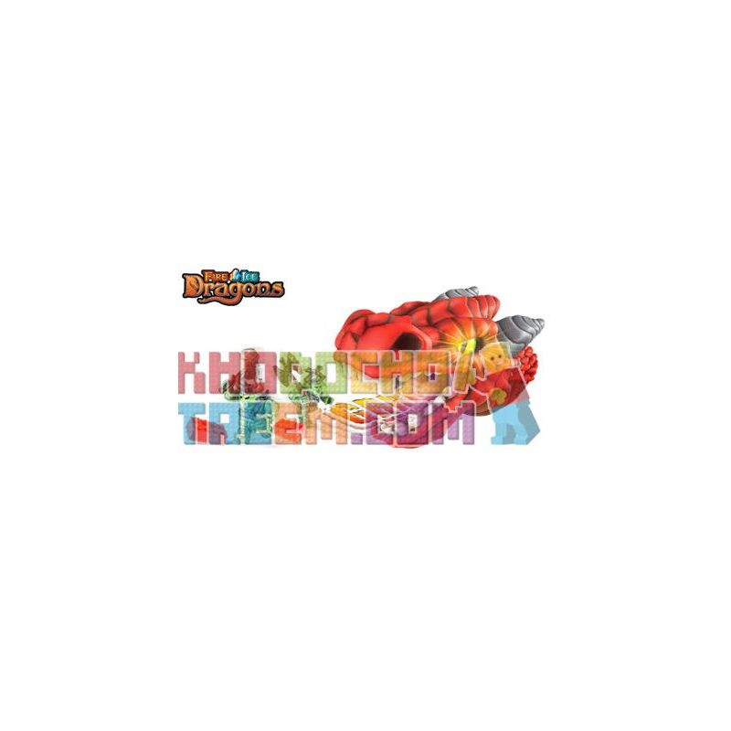 MEGA BLOKS 9853 Xếp hình kiểu Lego Firedrake Fire Dragon Rồng Lửa 7 khối