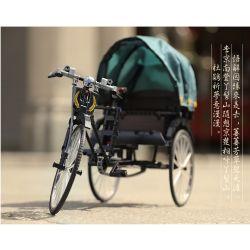 ACHKO 50015 Xếp hình kiểu Lego TECHNIC Three-wheeled Rickshaws Old Shanghai Yellow Bag Human Car Cũ Túi Màu Vàng Shanghai 535 khối