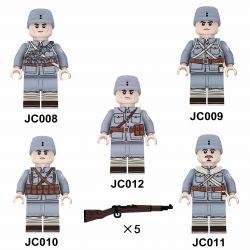 WISE JC008 JC009 JC010 JC011 JC012 Xếp hình kiểu Lego COLLECTABLE MINIFIGURES 5 Models Eighthrive Đạo Quân Số Tám gồm 4 hộp nhỏ