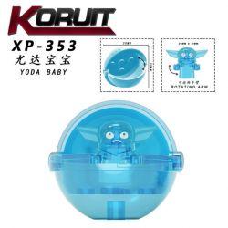 KORUIT XP-300 XP-301 XP-335 XP-336 XP-353 Xếp hình kiểu Lego COLLECTABLE MINIFIGURES Yoda Baby 5 Models Yuda Baby Yuda Baby. gồm 4 hộp nhỏ