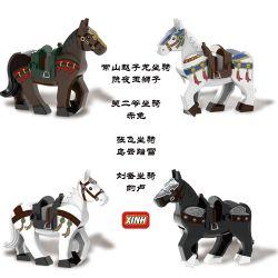 DW 001 002 003 004 005 006 XINH 1580 1581 1582 1583 X1580 1580 X1581 1581 X1582 1582 X1583 1583 Xếp hình kiểu Lego COLLECTABLE MINIFIGURES Hanzi 4 Three Kingdoms Five Tigers Will Mount Tam Quốc Và Ngũ