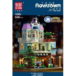 MOULDKING MOULD KING 16004 Xếp hình kiểu Lego MODULAR BUILDINGS The Cafe Yushang Street View Coffee Shop Quán Cà Phê 3430 khối
