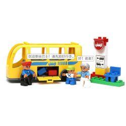 NOT Lego Duplo DUPLO 5636 Bus, HYSTOYS HONGYUANSHENG AOLEDUOTOYS  HG-1271 1271 HG1271 Xếp hình bến xe buýt 16 khối
