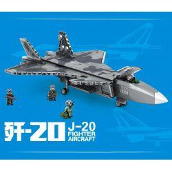 SEMBO 202128 Xếp hình kiểu Lego SKY WARS J-20 Fighter Aircraft Airland 歼 -20 Stealth Fighter Máy Bay Chiến đấu Tàng Hình J-20 775 khối