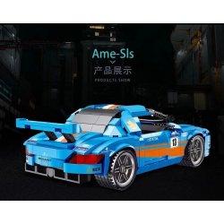 LUCKY STAR 50027 Xếp hình kiểu Lego SPEED CHAMPIONS Mercedes-Benz SLS AMG Proud SLS SLS Tự Hào 532 khối