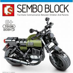 SEMBO 701136 Xếp hình kiểu Lego MOTO Moto Guzzi Centauro Enjoy The Ride 古兹 Centaur 古兹 Centaur. 205 khối