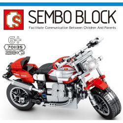 SEMBO 701135 Xếp hình kiểu Lego MOTO Moto Guzzi V10 Centauro GT Enjoy The Ride Gtz V10 Centauro GT 238 khối