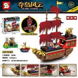SHENG YUAN SY 1556 Xếp hình kiểu Lego PIRATES OF THE CARIBBEAN Island Storm Island Nautical Treasure Hunt Truy Tìm Kho Báu Hàng Hải 522 khối