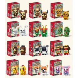 WOMA C0459 0459 Xếp hình kiểu Lego BRICKHEADZ ZODIC 12 Zodiac 12 12 Cung Hoàng đạo Trung Quốc