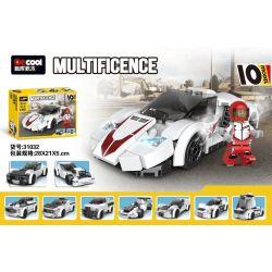 Decool 31030 31031 31032 Jisi 31030 31031 31032 Xếp hình kiểu Lego SPEED CHAMPIONS Thunder Đua Xe Sấm Sét gồm 2 hộp nhỏ 181 khối
