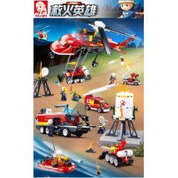SLUBAN M38-B0807 B0807 0807 M38B0807 38-B0807 Xếp hình kiểu Lego FIRE RESCURE Fire Hero Mountain Fire Brigade Đội Cứu Hỏa Miền Núi 325 khối