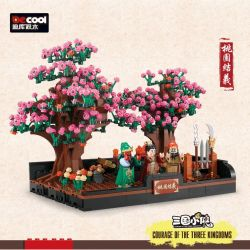 Decool 20503 Jisi 20503 Xếp hình kiểu Lego Oath Of The Peach Garden Three Kingdoms Taoyuan Trio Bộ Ba Đào Viên 813 khối
