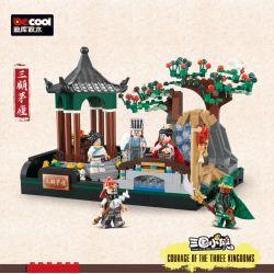 DECOOL 20502 Xếp hình kiểu Lego Three Visits To The Hut Three Kingdoms San Gu Mao Ba Lần đến Thăm Ngôi Nhà Tranh 690 khối