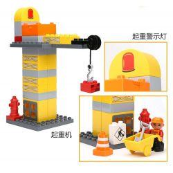 NOT LEGO Duplo 4988 Construction Site, Hystoys HongYuanSheng Aoleduotoys HG-1274 Xếp hình công trường xây dựng 84 khối