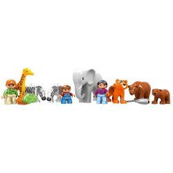 NOT LEGO Duplo 5635 Big City Zoo, Hystoys HongYuanSheng Aoleduotoys GM-5013A HG-1275 Xếp hình Sở Thú 125 khối