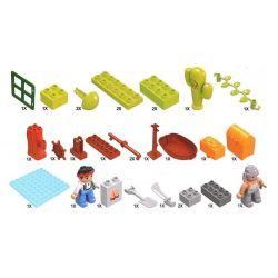 NOT Lego Duplo DUPLO 10514 Jake's Pirate Ship Bucky, GOROCK 1018 HYSTOYS HONGYUANSHENG AOLEDUOTOYS  HG-1276 1276 HG1276 Xếp hình Tàu Cướp Biển Chở Kho Báu Của Jakes 60 khối