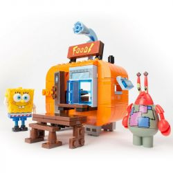 CHAOSHENG SP-030222 030222 SP030222 Xếp hình kiểu Lego SPONGEBOB SQUAREPANTS Sponge Bob Square Pants Sponge Baby Crab Fort Base CRAB FORT BASE.