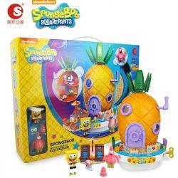 CHAOSHENG SP-030501 030501 SP030501 Xếp hình kiểu Lego SPONGEBOB SQUAREPANTS Sponge Bob Square Pants Sponge Baby Music Pineapple House Âm Nhạc Dứa Nhà