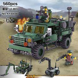 Kazi KY84040 84040 Xếp hình kiểu Lego FIELD ARMY Field Army Missile Launch Vehicle Field Troops Big Buffalo Roller, M-ATV Chariot Con Lăn Trâu Lớn, Cariot M-atv 560 khối