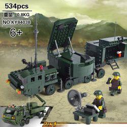 Kazi KY84038 84038 Xếp hình kiểu Lego FIELD ARMY Field Army Missile Launch Vehicle Field Troops 30N6E2 Guides Lighting Radar Car, M985A2 Multi-function Heavy Truck 30N6E2 Hướng Dẫn Viên Chiếu Sáng Xe
