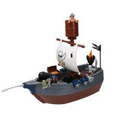 Hystoys Hongyuansheng Aoleduotoys HG-1277 (NOT Lego Duplo 7881 Pirate Ship ) Xếp hình Thuyền Cướp Biển 40 khối